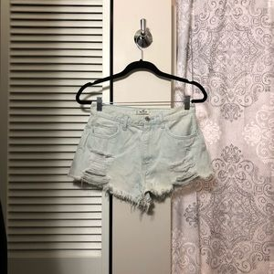 Light denim High-Rise Shorts